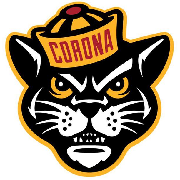 Corona  ca  panthers logo